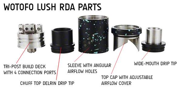 Wotofo Lush RDA Parts Explained