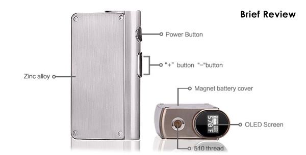 Laisimo S3 200w TC Box Mod Features