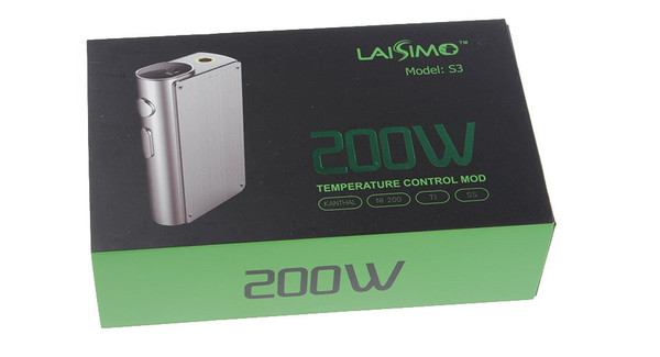 Laisimo S3 200w TC Box Mod packaging