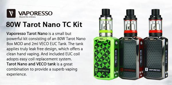 Vaporesso Tarot Nano 80w Starter Kit Brief
