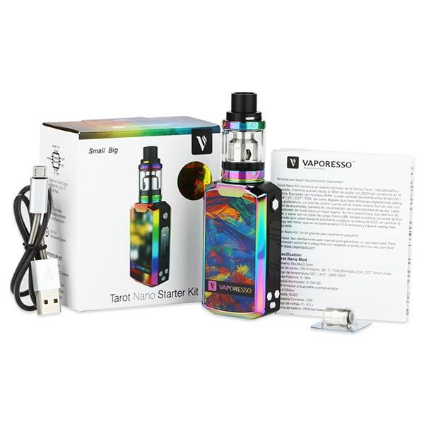 Vaporesso Tarot Nano 80w Starter Kit Box Contents