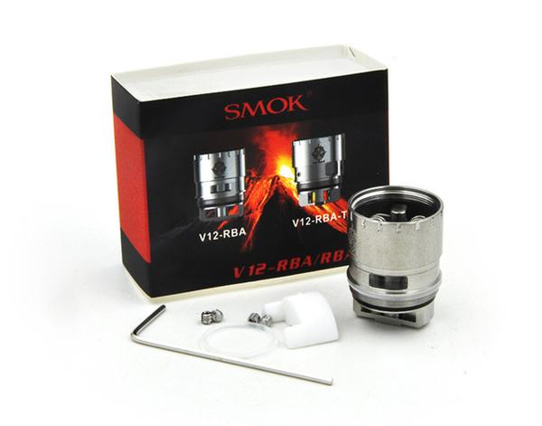 SMOK V12-RBA-T Triple Coil RBA Kit Contents