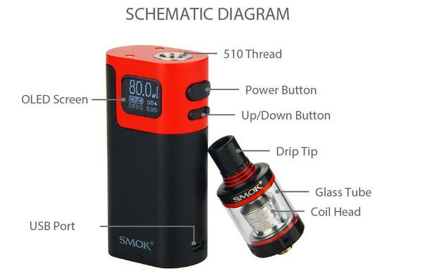 SMOK G80 Starter Kit Schematic