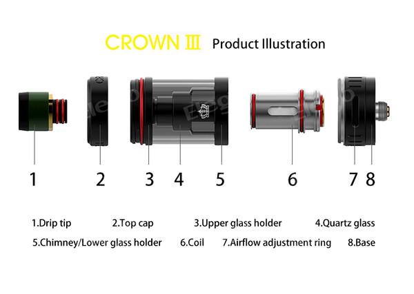 Uwell Crown 3 III Mini Vape Tank Atomizer Parts