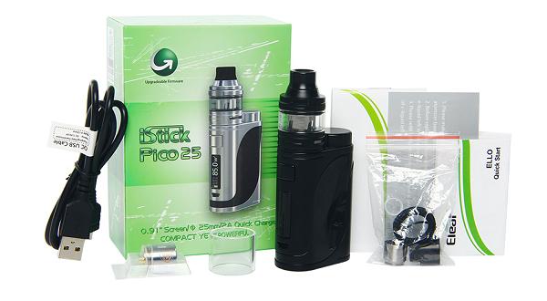 Eleaf iStick Pico 25 ELLO Starter Kit Box Contents