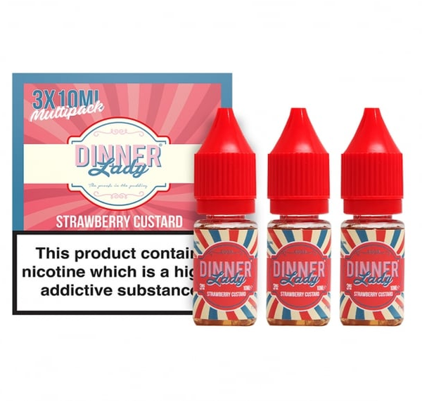 Strawberry Custard E Liquid By Dinner Lady 3 x 10ml for only £9.99