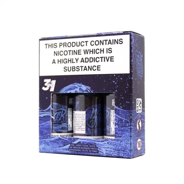 Ocean Blue ELiquid By Mr Juicer 3 x 10ml for only £12.99