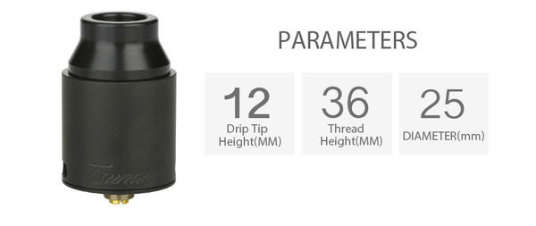 Geekvape Tsunami Pro 25mm RDA Parameters