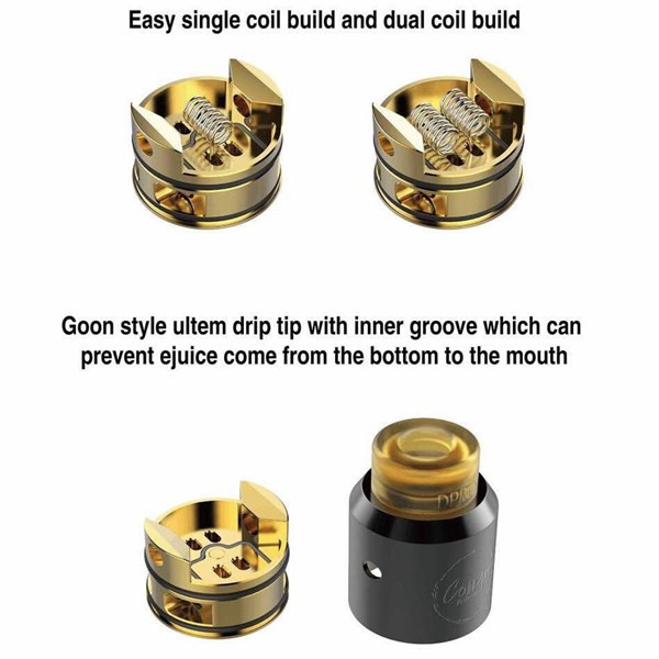 Coilart DPRO BF RDA Atomizer coils and insides