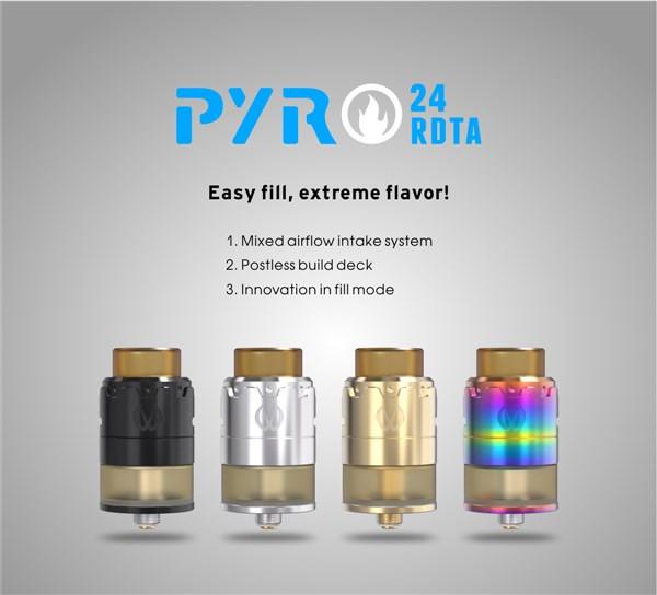 Vandy Vape Pyro 24 RDTA Characteristics