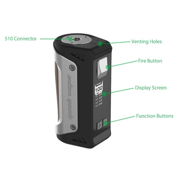 Geekvape AEGIS 100W TC Box Mod Characteristics