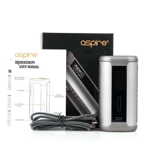 Aspire Speeder 200w Mod Box Contents