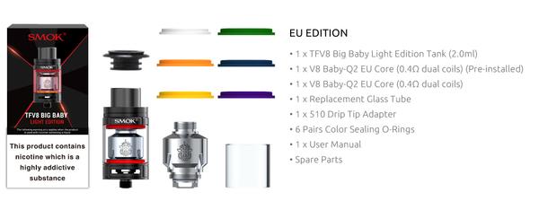 SMOK TFV8 Big Baby Light Tank Features