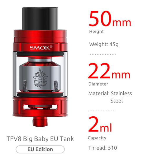 SMOK TFV8 Big Baby Light Tank Specification