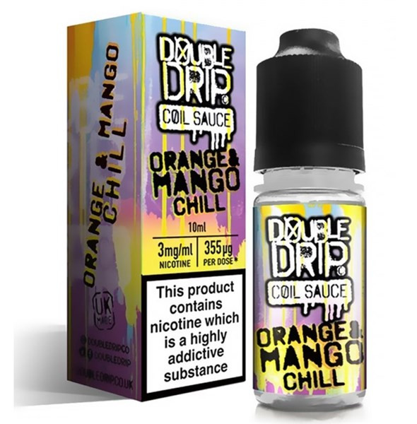 Orange & Mango Chill E Liquid By Double Drip Coil Sauce 10ml