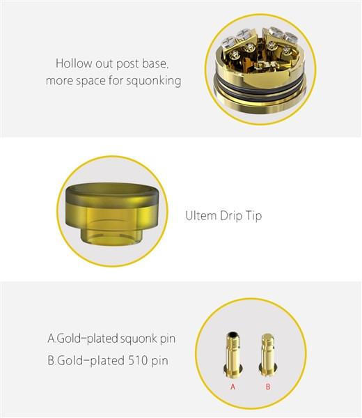 IJOY Capo 100W TC Squonk Vaping Kit Build Deck & Pins