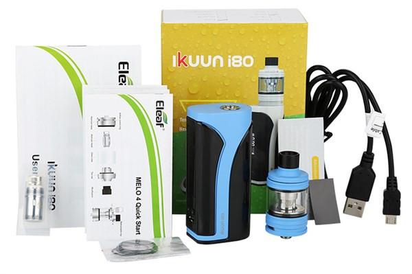Eleaf iKuun i80 3000mah Vaping Kit Box Contents