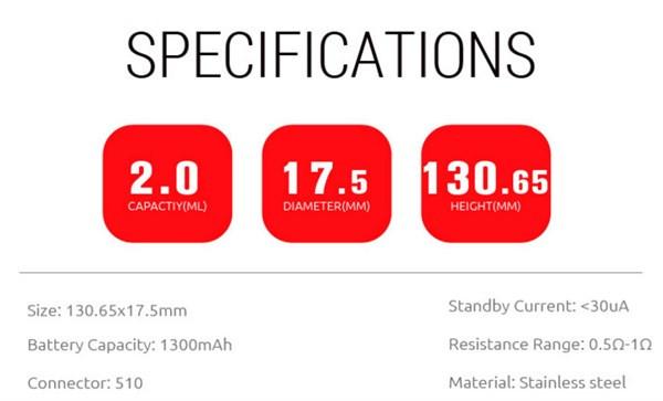 SMOK Stick M17 Starter Kit Specification