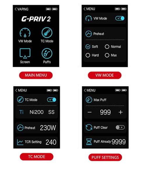Smok G Priv 2 230W Mod Display