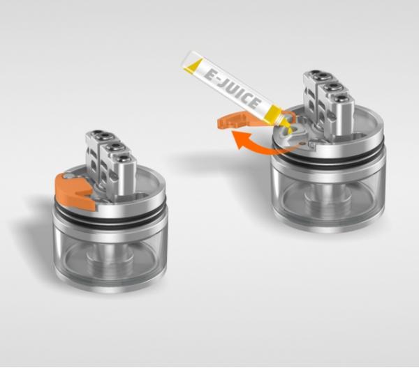 Geekvape Peerless RDTA Hinge Lock Filling System