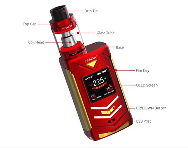 SMOK Veneno 225w Starter Kit Characteristics