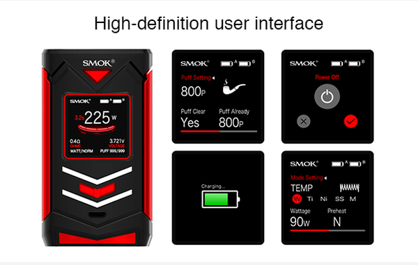SMOK Veneno 225w Mod Display