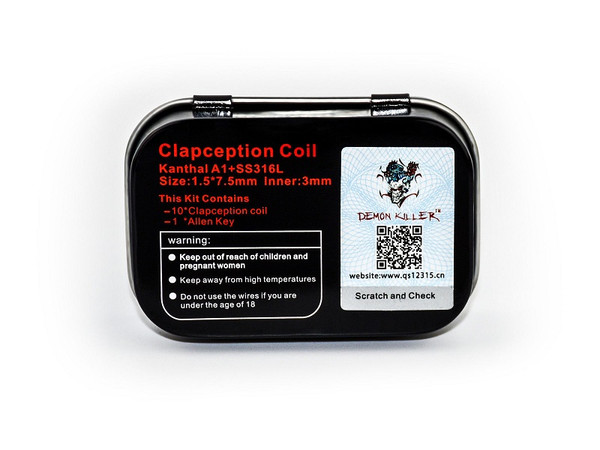 Demon Killer Prebuilt Wire Clapcetion Coil 0.35ohm Packaging