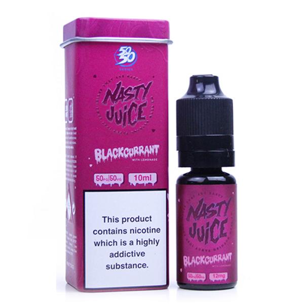Blackcurrant & Lemonade Eliquid (Wicked Haze) By Nasty Juice