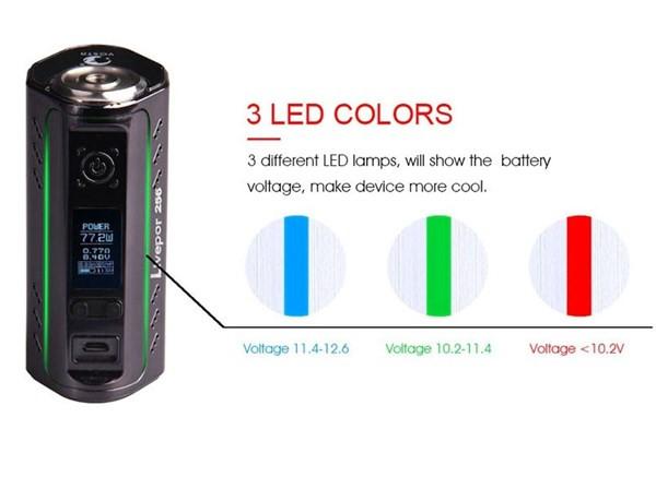 Yosta Liverpor 256 Box Mod Battery Charge Indicator