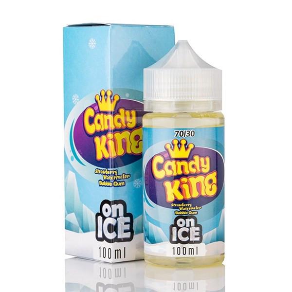 Strawberry Watermelon Bubblegum On Ice Short Fill E Liquid (120ml with 2 x 10ml nicotine shots to make 3mg) by Candy King (Zero Nicotine)