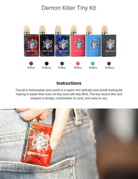 Demon Killer Tiny Kit Starter Kit Free E Liquids Free Delivery