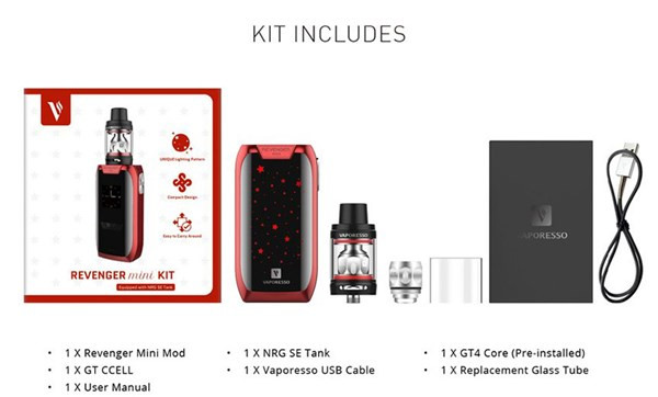 Vaporesso Revenger Mini Vape Kit Box Contents