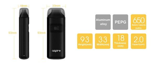 Aspire Breeze Kit Specification