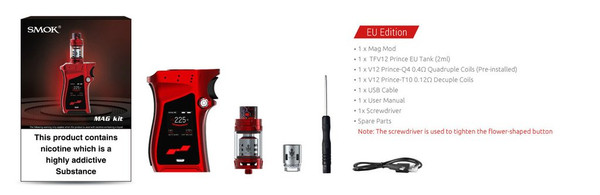 Smok MAG 225w TC Starter Kit Box Contents