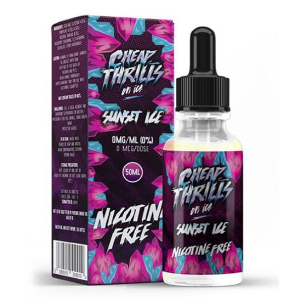 Sunset Ice E Liquid 50ml by Cheap Thrills (60ml/3mg if nicotine shot added) ing FREE NICOTINE SHOT