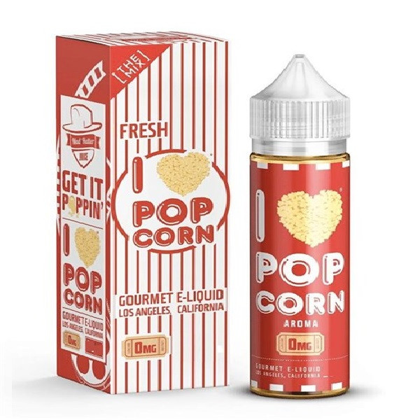 I Love Popcorn Eliquid 100ml (120ml with 2 x 10ml nicotine shots to make 3mg) by Mad Hatter Juice Only £19.99 (FREE NICOTINE SHOTS)