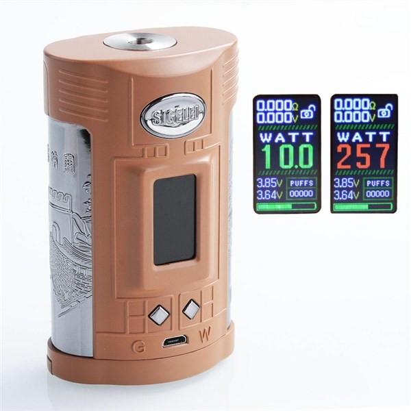 Sigelei GW 257w 20700 TC Box Mod Display