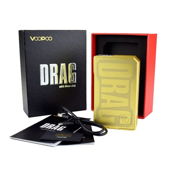 Voopoo Drag 157W TC Limited Gold Edition Box Mod Packaging