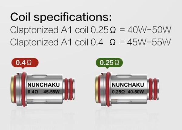 Uwell Nunchaku Tank Coil Heads Specifications
