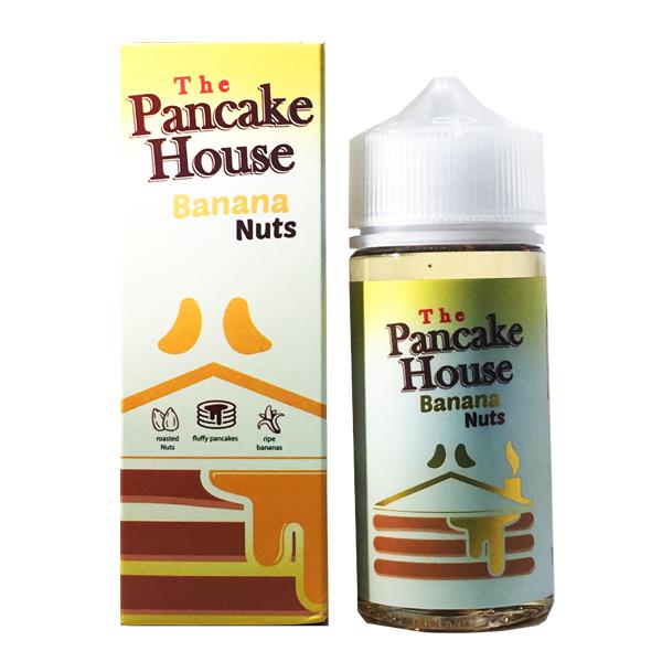Banana Nuts E Liquid 100ml By The Pancake House (120ml of e liquid with 2 x 10ml nicotine shots to make 3mg)