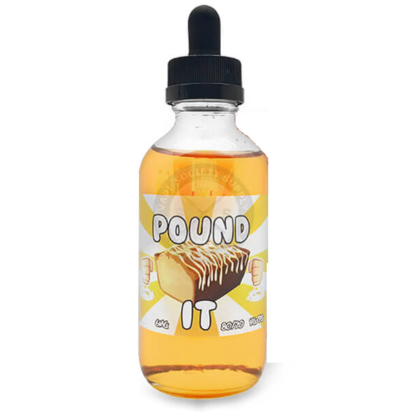 Pound It E Liquid (120ml Shortfill with 2 x 10ml nicotine shots to make 3mg) by Food Fighter Juice Only £19.99 (Zero Nicotine)