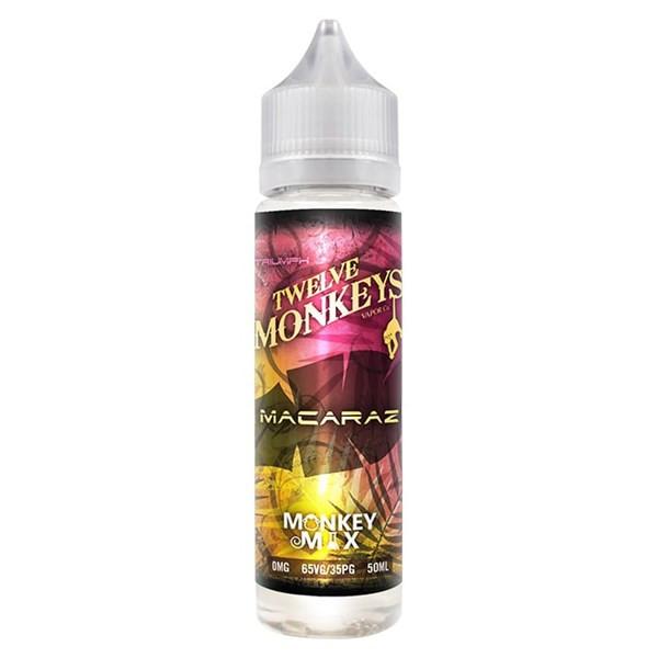 MacaRaz E Liquid 50ml By Twelve Monkeys (60ml of e liquid with 1 x 10ml nicotine shots to make 3mg)