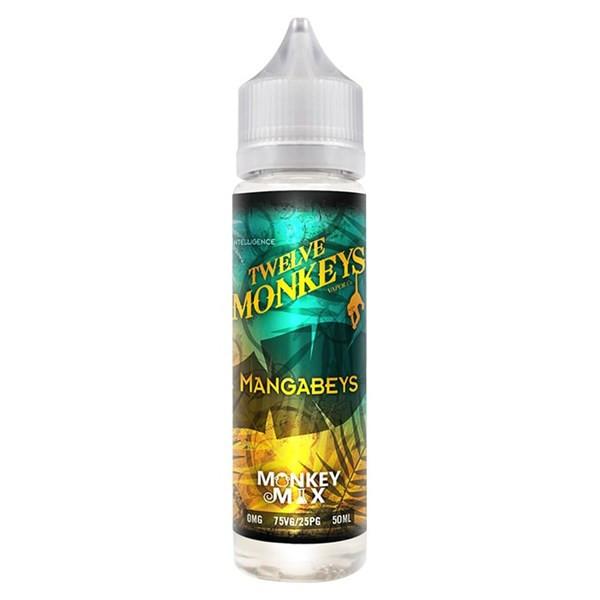 Mangabeys E Liquid 50ml By Twelve Monkeys (60ml of e liquid with 1 x 10ml nicotine shots to make 3mg)
