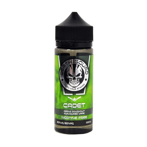 Cadet E Liquid 100ml Shortfill  (120ml Shortfill with 2 x 10ml nicotine shots to make 3mg) By Death Squad