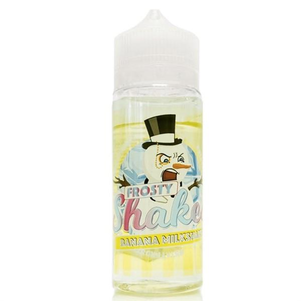 Frosty Shakes Banana Milkshake E Liquid 100ml by Dr Frost (Zero Nicotine & Free Nic Shots to make 120ml/3mg)