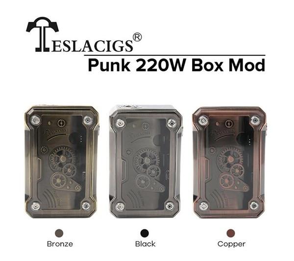 Tesla Punk 200w Box Mod Colours
