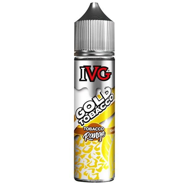 Gold Tobacco E Liquid 50ml by I VG Tobacco Range Only £10.99 (Zero Nicotine)