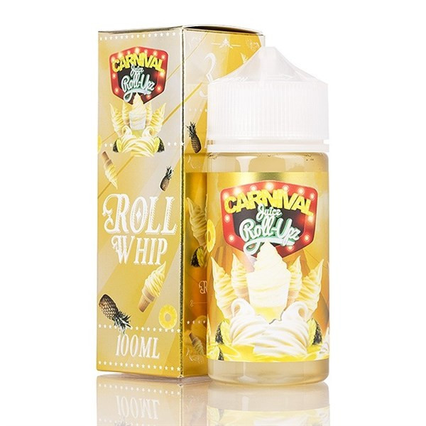 Carnival Juice Roll Whip Juice 80ml Shortfill (100ml Shortfill with 2 x 10ml nicotine shots to make 3mg) By Juice Roll Upz