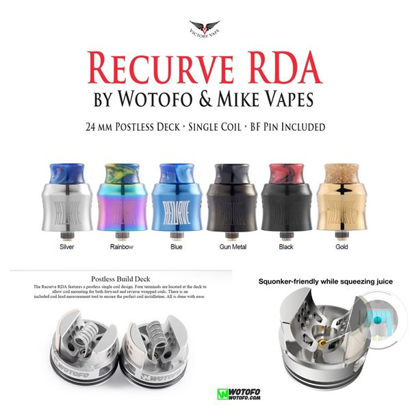 Wotofo Recurve Single Coil RDA Specification