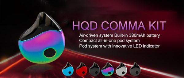 HQD Comma Pod Vape Kit Specification